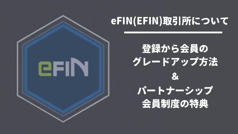 eFIN取引所の登録~パートナー会員切替の方法から特典まで解説!TPAYをステークしてEFINをもらおう!